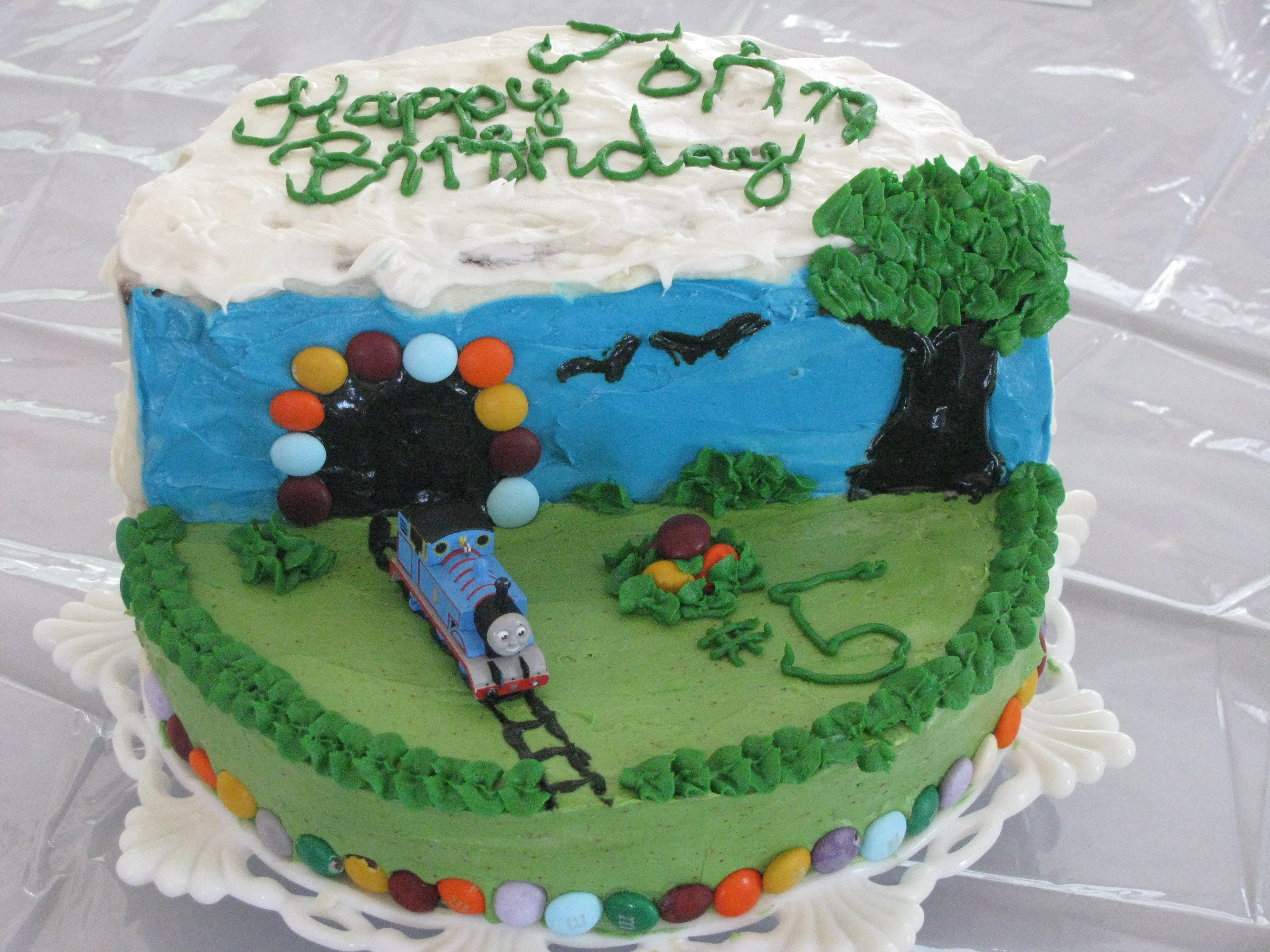 Thomas The Tank Engine Birthday Cake For Little Boys Parsnips And