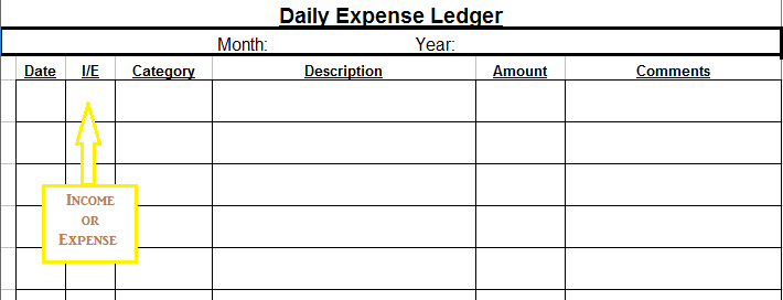picture about Free Printable Expense Sheet identified as Cost-free Printable Every day Expenditure Ledger and February Finance